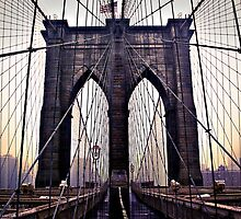 Gloomy Brooklyn Bridge by RayDevlin