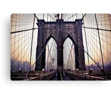Gloomy Brooklyn Bridge Canvas Print