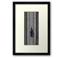 Courier on Collins - early morning Collins St Melbourne Framed Print