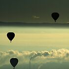Early morning ballooning II - dawn in melbourne by Lucas D'Arcy