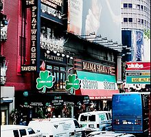 Busy on Broadway by Melinda  Ison - Poor