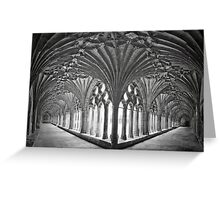 Cloisters at Canterbury Cathedral Greeting Card