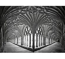 Cloisters at Canterbury Cathedral Photographic Print