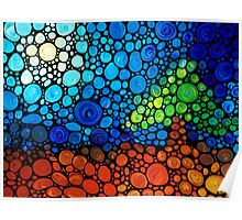 A Day To Remember - Landscape Print Abstract Colorful Mosaic Art Poster