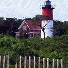 Nauset Beach Lighthouse on Cape Cod by Monika Fuchs