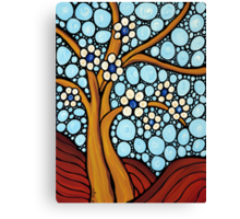 The Loving Tree - Abstract Mosaic Landscape Art Print Canvas Print