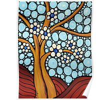 The Loving Tree - Abstract Mosaic Landscape Art Print Poster