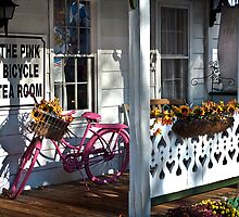 The Pink Bicycle Tea Room by Jane Brack