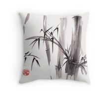 'after the rain'  - original ink and wash painting Throw Pillow