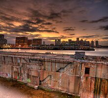 Industrial Sunset, Boston by sburdan