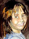 Sarah - A Watercolour Portrait by Jim Phillips