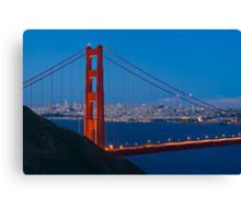 San Francisco through the Golden Gate Bridge Canvas Print