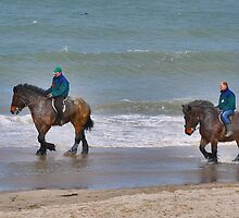 Straô horses in the North Sea by Adri  Padmos