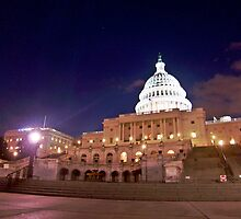 The United States Capitol at Night by Cody McKibben