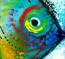 Tropical Fish - Colorful Ocean Large Art Print Beach Art by Sharon Cummings