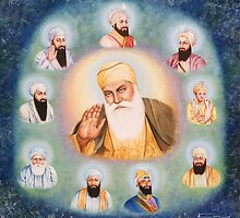 TEN GURUS  by kirandeep