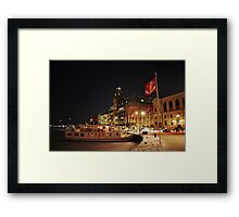 Harbor Flags  (Stockholm, Sweden) Framed Print