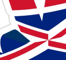 British  Peace Sign T Shirt Sticker