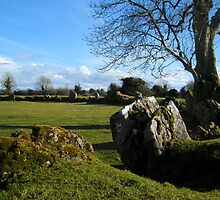 Old Knarled Tree and Megalitic Circle by Paul Woods