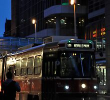 Streetcar at Dusk by Marie Martelli