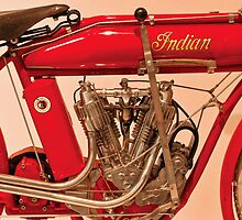Motorcycle - Indian Motorcycle engine by Mike  Savad