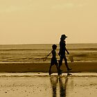 Stroll on the Beach by Caren