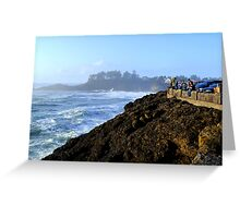 A beautiful day, in Depoe Bay Greeting Card