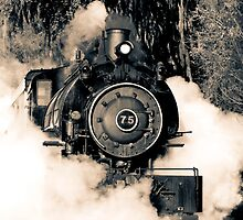 Flagg Coal Steam Engine Blow Out - Duotone by MKWhite
