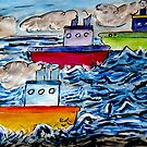 Sail Away Tugboats by Monica Engeler