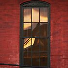 Old Wavy Glass Window with Reflection by BCallahan