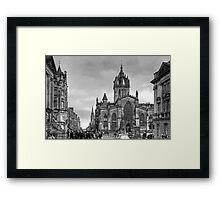 Looking down the High Street - B&W Framed Print