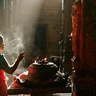 Praying. Madurai by Claude  Renault