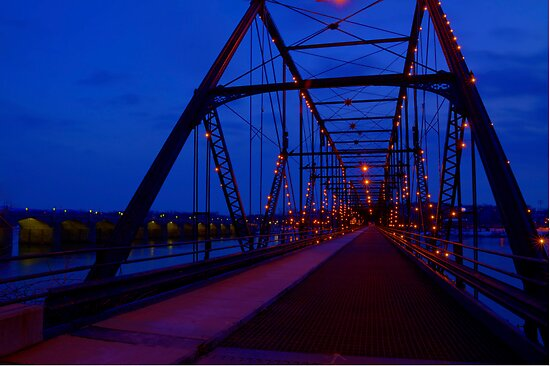 Walnut Street Walking Bridge-Harrisburg, PA by BigD
