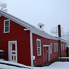 Old Grist Mill in Winter by Linda Jackson