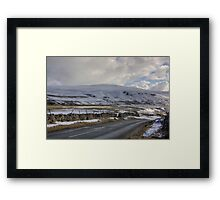 Snow Road in the Dales Framed Print