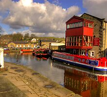 Canal Side - Skipton. by Trevor Kersley