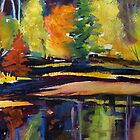 """Reflecting Prisms  18 x 22"""" by tfowlerbailey"""
