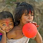 Nepali little brother and sister by Konstantinos Arvanitopoulos