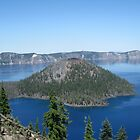 Crater Lake - A Beautiful View by GnomePrints