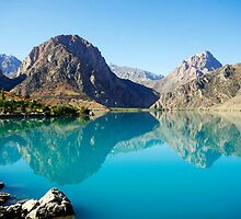 Lake in Tajikistan by Simon Burns