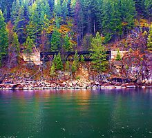 """The Trestle-Kootenay Lake, British Columbia, Canada"" by Bruce Jones"