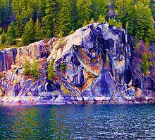 """The Rockface-Kootenay Lake, British Columbia, Canada"" by Bruce Jones"