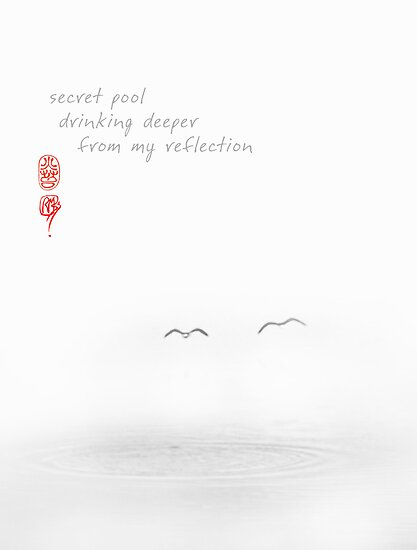 'Flight' Part 2, Secret Pool, Haiku and Image (haiga) by Ron C. Moss