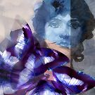 Composition With Ghosted Face, Flowers, Butterflies #1  March 3, 2010 by Ivana Redwine