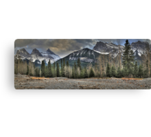 Under rocky peaks Canvas Print
