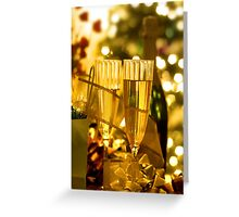 Two champagne glasses Greeting Card