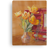 Jade and Tulips Canvas Print