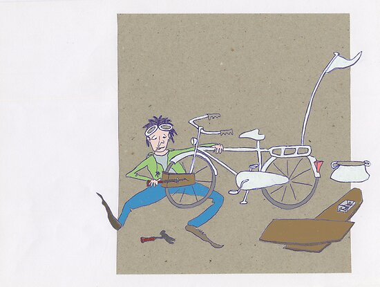 Making a flying bike by Sanne Thijs