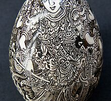 Hand-painted egg by Maggie Hegarty
