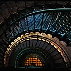 Downward Spiral, Currituck Beach Lighthouse  by Jacque Gates
